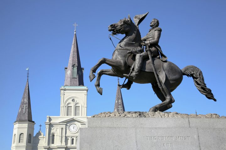 Monument of Andrew Jackson, in Jackson Square, New Orleans, Louisiana