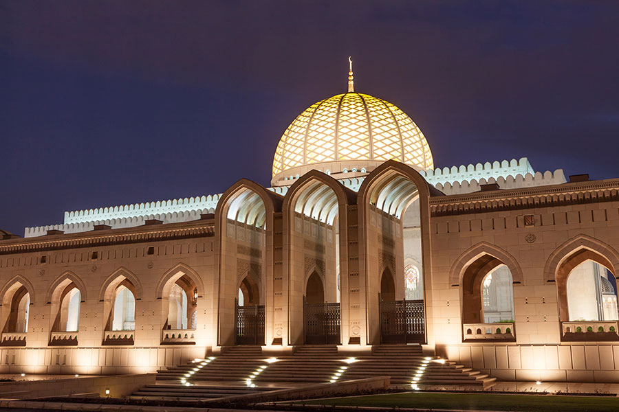 巨大モスク Sultan Qaboos Grand Mosque